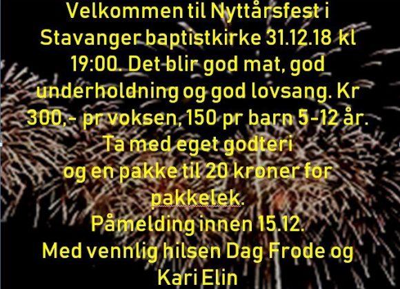 Nyttårsfest 31.12.2018